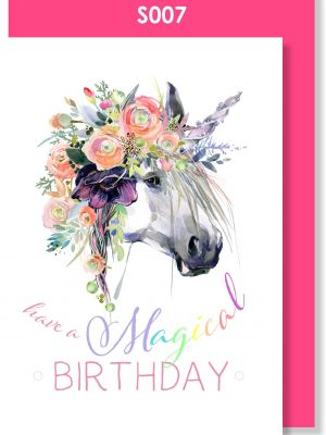 happy birthday, birthday card, unicorn, cute
