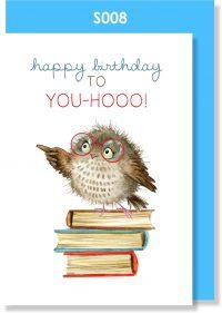 happy birthday, birthday card, owl, cute