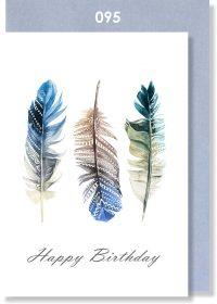 Handmade Card, Birthday Card, Feathers