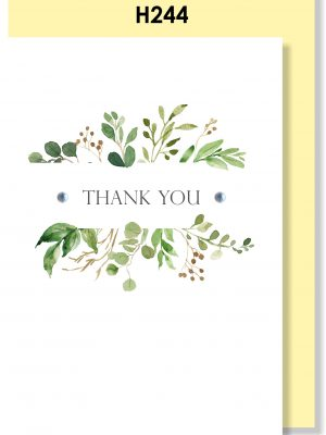 Handmade card, Thank you card, Botanical card