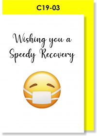 Handmade card. Get Well Soon, Get Better Soon, Speedy Recovery, Corona, Covid-19
