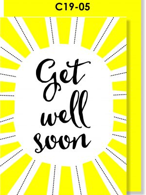 Handmade card, Get Well Soon, Get Better Soon, Corona, Covid-19