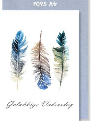 Afrikaans, Kaartjie, Father's Day, Vadersdag, Feather, Veer, Handmade card