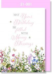 Handmade Greeting Card, Birthday Card, Pretty, Floral
