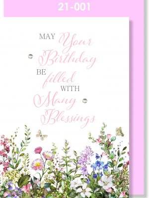 Handmade Greeting Card, Birthday Card, Pretty, Floral