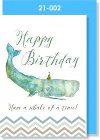 Handmade Greeting Card, Birthday Card, Whale