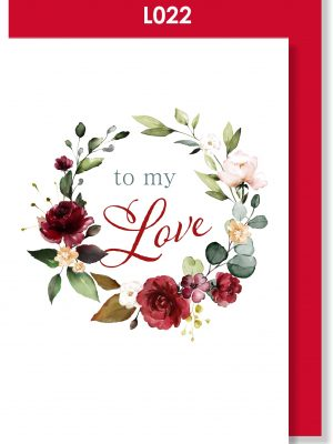 Handmade Greeting Card, Valentine's Card, Valentine's Day, Love, Red Roses