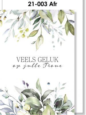 Handmade card, Afrikaans, Troukaartjie
