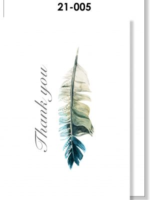 Handmade Card, Thank you card, Feather