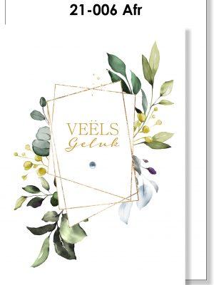 Handmade Card, Afrikaans, Veels Geluk