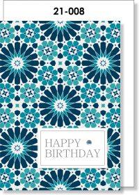 Handmade card, Mosaic, Moroccan, Happy Birthday