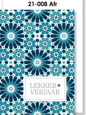 Handmade card, Afrikaans, mosaïek, Verjaarsdag, Marokkaans
