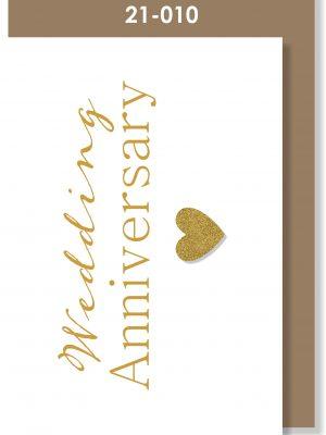 Handmade card. Wedding Anniversary, Golden Anniversary