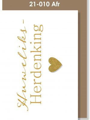 Handmade card, Afrikaans, Huweliksherdenking