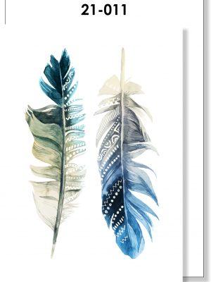 Handmade card, Feathers, Blank, General