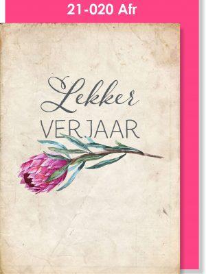 Handmade Card, Verjaarsdag Kaartjie, Protea