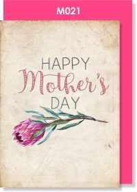 Handmade Card, Mother's Day Card, Protea