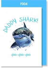 Handmade card, Father's day card, DADDY SHARK
