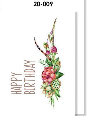 Handmade Card, Birthday Card, Fynbos