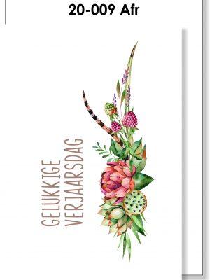 Verjaarsdag Kaartjie, Handmade Card, Afrikaans