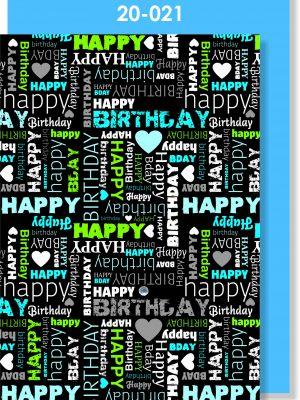 Handmade Card, Happy Birthday text, Male Card