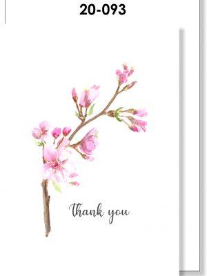Handmade Card, Thank You card, Blossom