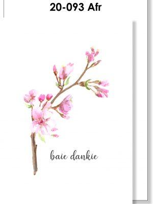 Handmade Card, Afrikaans Card, Baie Dankie, Blossom