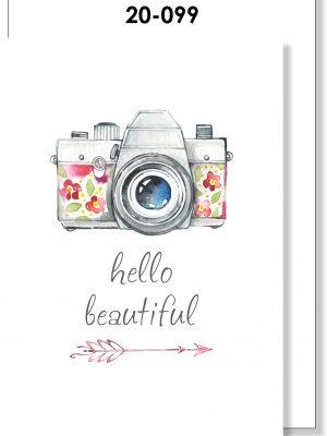 Handmade Card, Hello Beautiful, Camera, Vintage