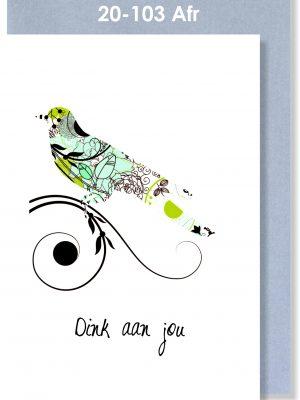 Handmade Card, Afrikaans Sympathy, Dink aan jou