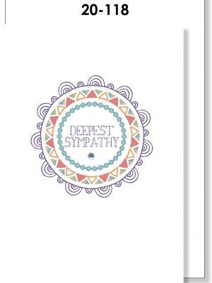 Handmade Card, Sympathy, Mandala