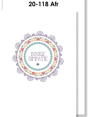 Handmade Card, Afrikaans, Sympathy, Mandala