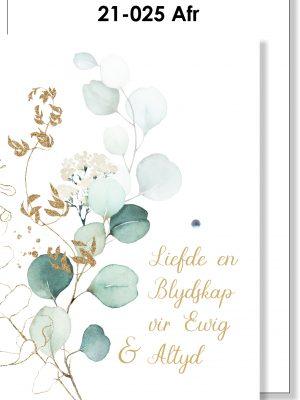 Handmade Card, Troukaartjie, Afrikaans