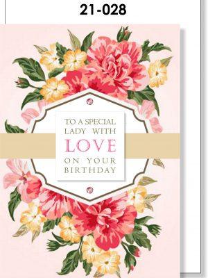Handmade Card, Birthday, Feminine, Roses
