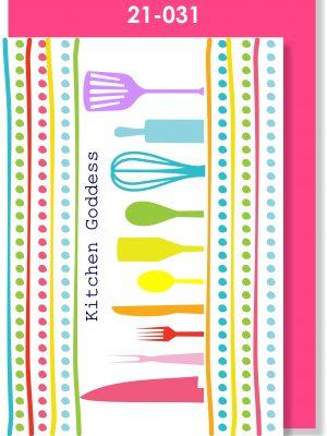 Handmade Card, Kitchen Goddess