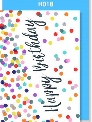 Handmade Card, Birthday, Confetti