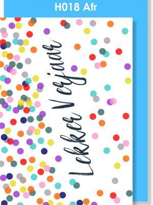 Handmade Card, Afrikaans, Verjaarsdag
